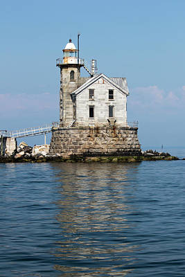 Photograph - Stratford Shoal Light by Karol Livote