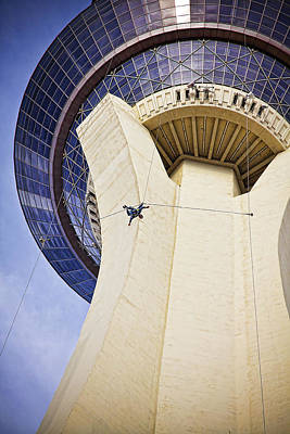 Photograph - Stratosphere Jumper, Las Vegas by Tatiana Travelways