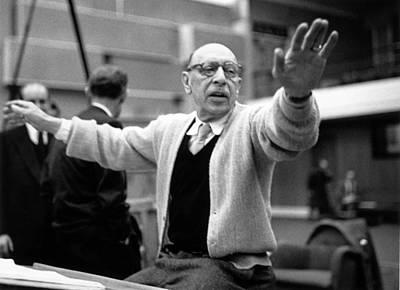 Stravinsky Conducts Art Print by Erich Auerbach