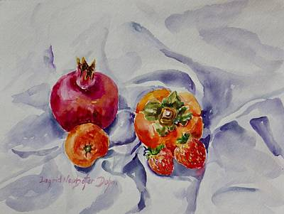Painting - Strawberries by Ingrid Dohm