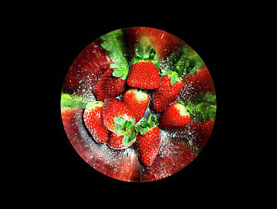 Photograph - Strawberries With Sugar On A Round Tray by Michael Goyberg