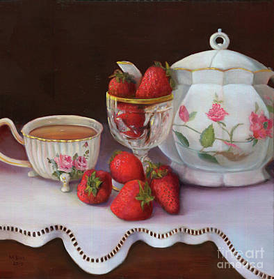 Painting - Strawberry Tea by Marlene Book