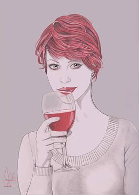 Mixed Media - Strawberry Wine by Gus Romero IV