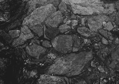 Photograph - Stream Bed Black And White by Keith Smith