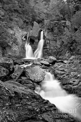 Photograph - Stream Below Bash Bish Falls Black And White by Adam Jewell