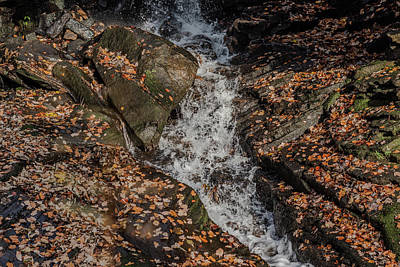 Photograph - Stream Through Rocks by Scott Lyons