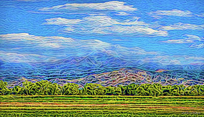 Digital Art - Streaming Meadow Day by Joel Bruce Wallach