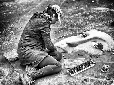 Photograph - Street Art Drawing In Florence by John Rizzuto