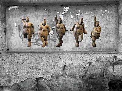 Photograph - Street Art Is Art - Dancing Venus Crones by Andrea Kollo