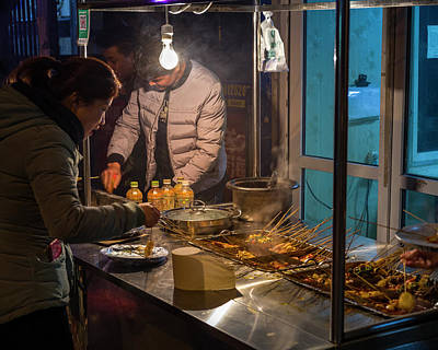 Photograph - Street Food Cart In Urumqi Xinjiang China by Adam Rainoff