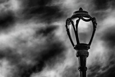 Photograph - Street Light Clouds And Sky by Robert Ullmann