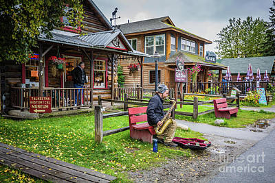 Photograph - Street Musician In Talkeetna by Eva Lechner