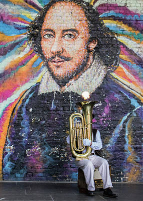 Musicians Photo Royalty Free Images - Street Performer Royalty-Free Image by Martin Newman