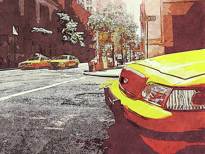 Painting - Streets Of New York - 01  by Andrea Mazzocchetti