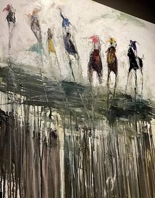 Painting - Stretch Run Blue by Heather Roddy