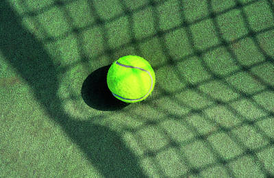 Photograph - Stretching The Tennis Net Shadow by Gary Slawsky