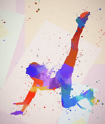 Painting - Stretching Woman by Dan Sproul