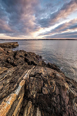 Photograph - Striations. Leading Lines In The Rocks by Jeff Sinon