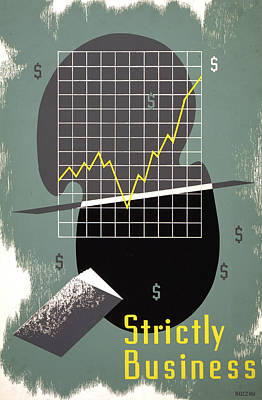Digital Art - Strictly Business Poster by Graphicaartis