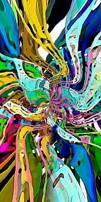 Digital Art - String Theory by David Manlove