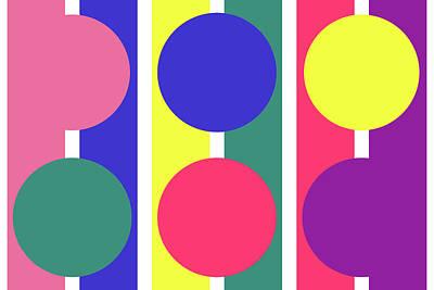 Digital Art - Stripe Circle - Spring - On White by REVAD David Riley