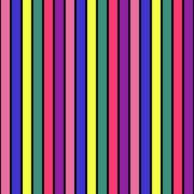 Digital Art - Stripe Grid - Spring - On Black by REVAD David Riley
