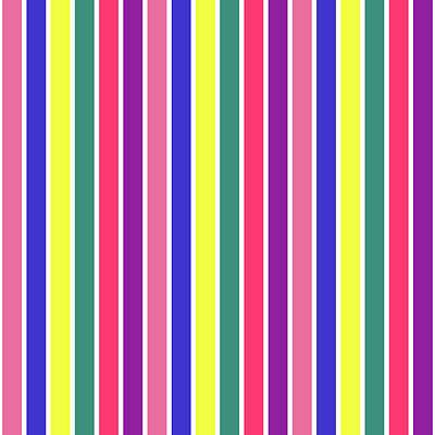 Digital Art - Stripe Grid - Spring - On White by REVAD David Riley