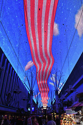 Photograph - Stripes On Fremont Street Experience, Las Vegas by Tatiana Travelways