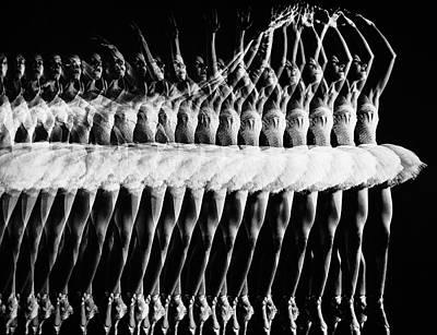 Photograph - Stroboscopic Multiple Exposure Of by Gjon Mili