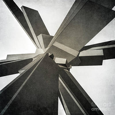 Digital Art - Structure Of Concrete Blocks by Phil Perkins
