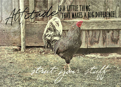 Strut Quote Art Print by JAMART Photography