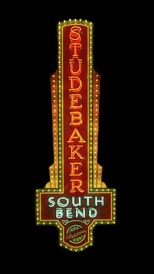 Photograph - Studebaker Neon Sign by Susan Rissi Tregoning