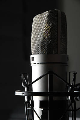 Music Photograph - Studio Microphone by Wibs24