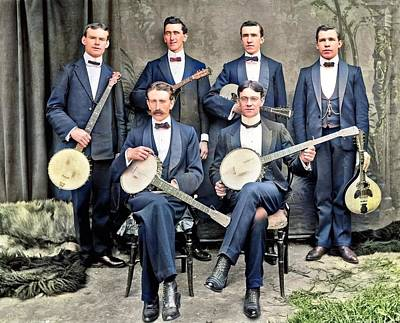 Musicians Royalty Free Images - Studio portrait of six musicians with instruments Royalty-Free Image by Artistic Panda