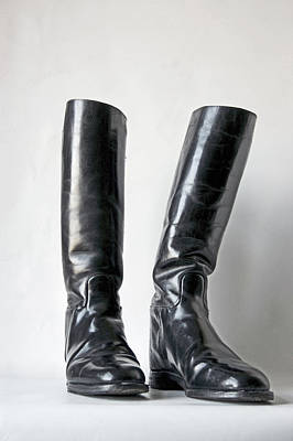 Photograph - Studio. Riding Boots. by Lachlan Main