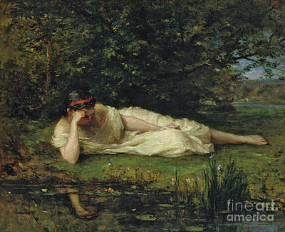 Painting - Study At The Waters Edge, 1864 by Berthe Morisot
