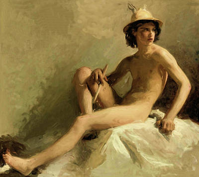 Painting - Study For Mercury by Isidore Alexandre Augustin Pils