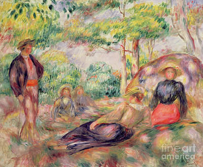 Painting - Study For Picnic, Circa 1893 by Pierre Auguste Renoir
