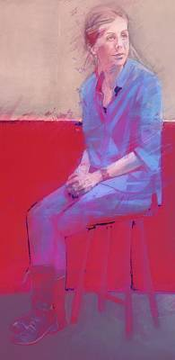 Painting - Study In Red by Joyce Creswell