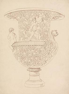 Drawing - Study Of A Vase by Thomas Rowlandson