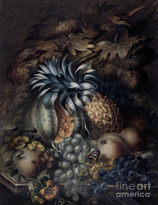 Pastel - Study Of Fruit  by Mary Bradley