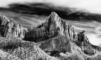 Photograph - Stunning Bw Zion National Park Utah  by Chuck Kuhn