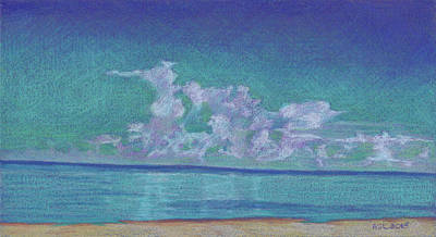 Drawing - Stunning Clouds At Vanderbilt Beach by Anne Katzeff