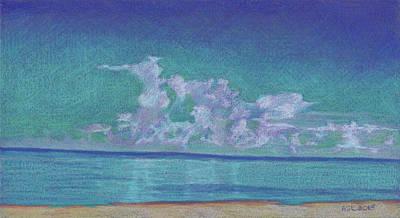 Drawing - Stunning Clouds At Vanderbilt Beach by Anne Katzeff