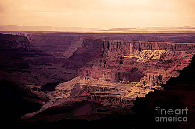 Digital Art - Stunning Digital Art Grand Canyon  by Chuck Kuhn