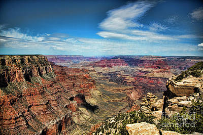 Photograph - Stunning Pano Grand Canyon Full Color  by Chuck Kuhn