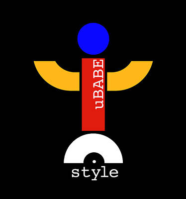 Digital Art - Style Black by Ubabe Style