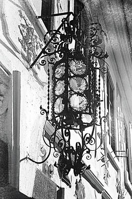 Photograph - Stylish Iron-shod  Ancient Lantern. Prague by Jenny Rainbow
