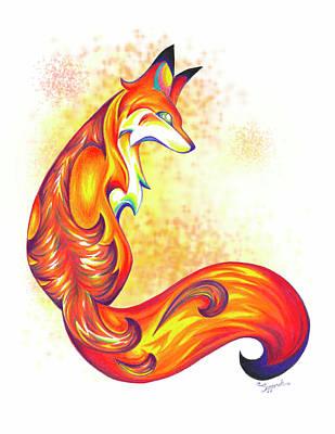 Stylized Fox I Art Print