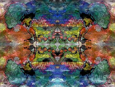Mixed Media - Stylized Symmetry by Jolanta Anna Karolska